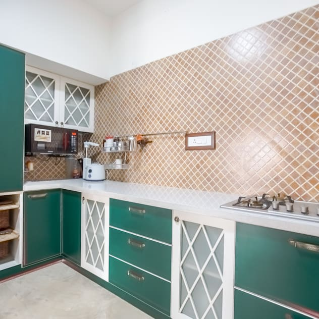 2 BHK in country Style Interiors Country style kitchen by In Built Concepts is now FABDIZ Country Plywood