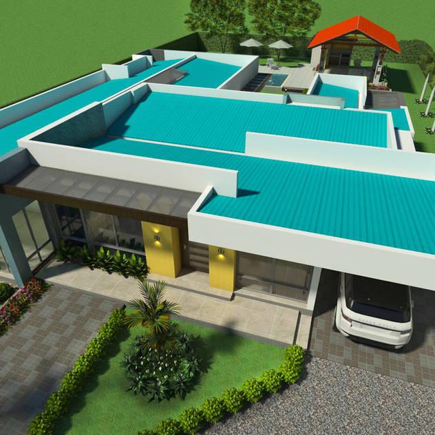 Perspectiva - vista general de la cubierta Casas de estilo moderno de Arquitecto Pablo Restrepo Moderno