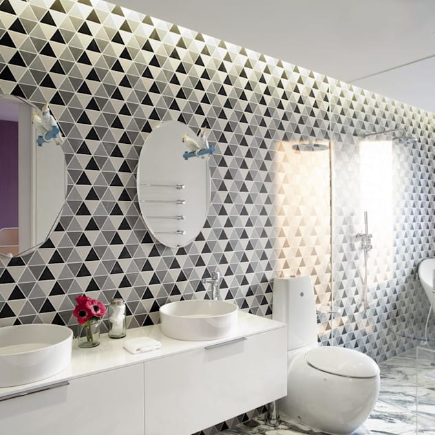 Master bathroom Modern Bathroom by Sergio Mannino Studio Modern Ceramic