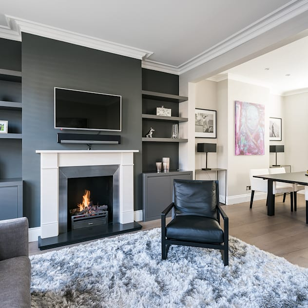 Disraeli Road, Putney Modern living room by Grand Design London Ltd Modern