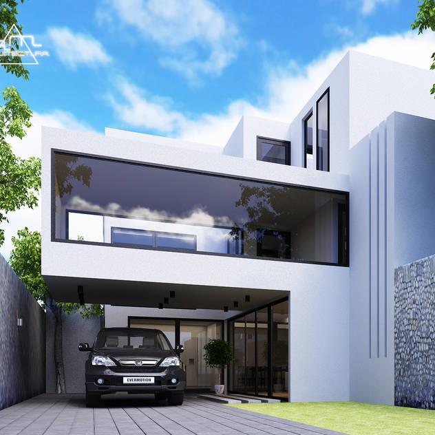 Fachada casas de estilo moderno por besana studio diseo de for Fachadas de casas estilo moderno