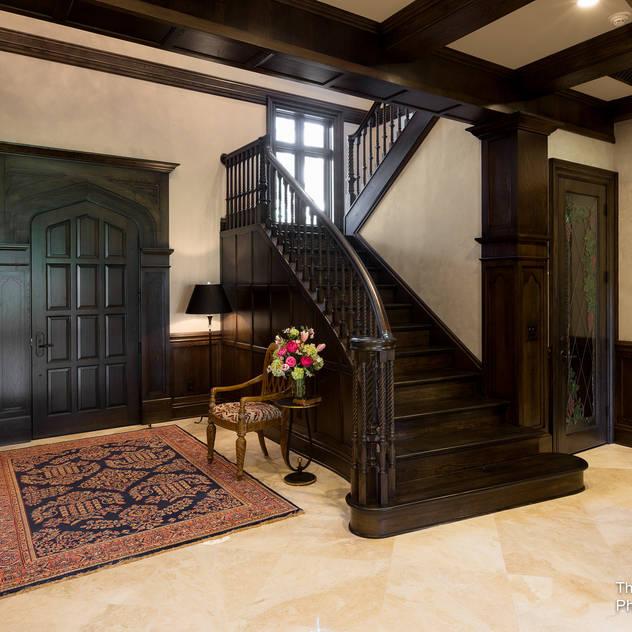 Modern corridor, hallway & stairs by Chibi Moku Architectural Films Modern Concrete