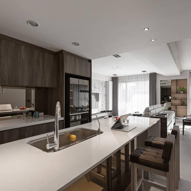 賀澤室內設計 HOZO_interior_design의 주방