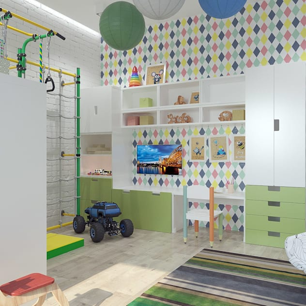 Phòng trẻ em phong cách tối giản bởi homify Tối giản