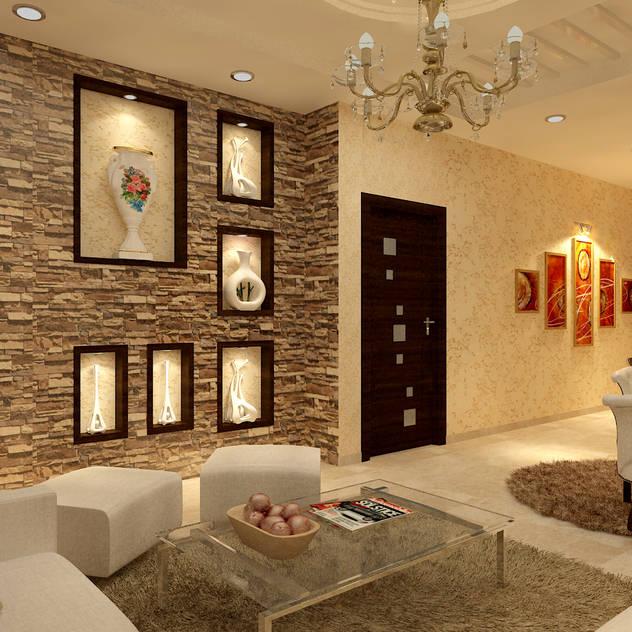 Salas de estar minimalistas por MAD DESIGN