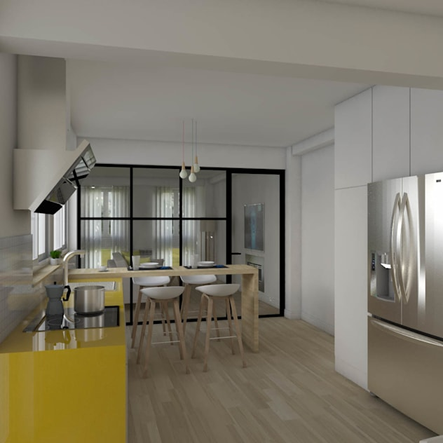 After Scandinavian style kitchen by homify Scandinavian