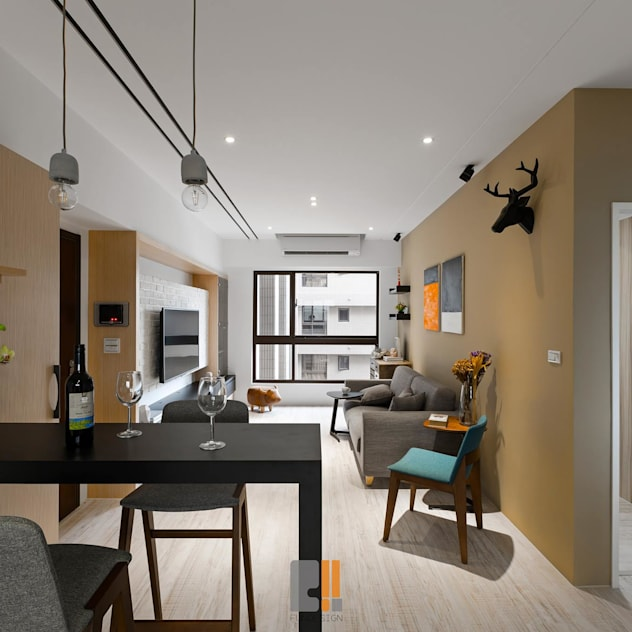 modern Living room by 築川室內裝修設計有限公司
