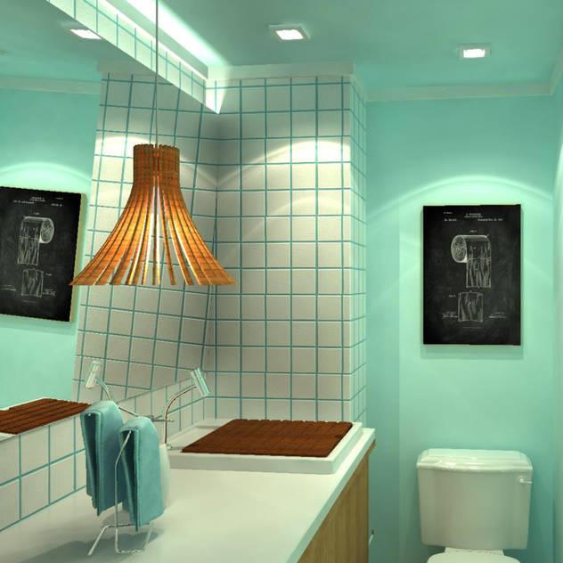 Bathroom by Fragmento Arquitetura