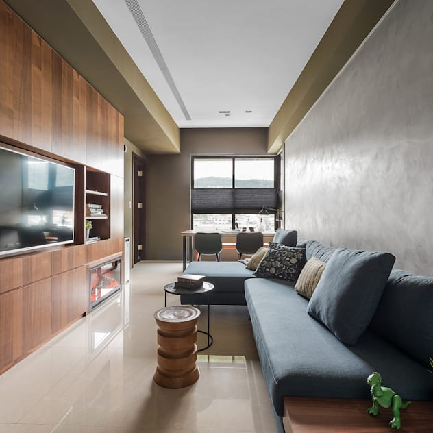 scandinavian Living room by 齊禾設計有限公司