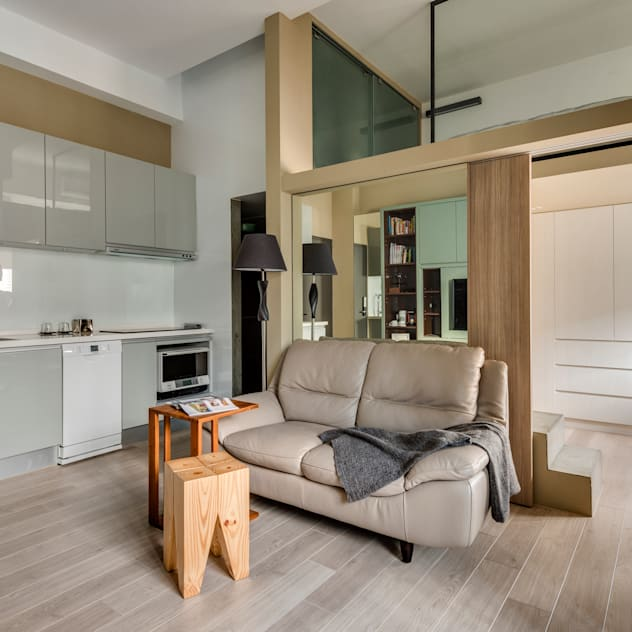 minimalistic Living room by 齊禾設計有限公司