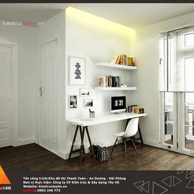 Phòng làm việc 2 Phòng học/văn phòng phong cách hiện đại bởi homify Hiện đại