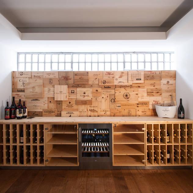 Hầm rượu phong cách hiện đại bởi Chantal Forzatti architetto Hiện đại Gỗ Wood effect