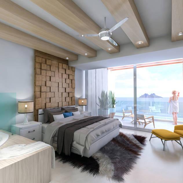 Grupo Arsciniest Minimalist bedroom Concrete White
