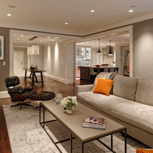 Luxury Kalorama Condo Renovation in Washington DC: classic Living room by BOWA - Design Build Experts