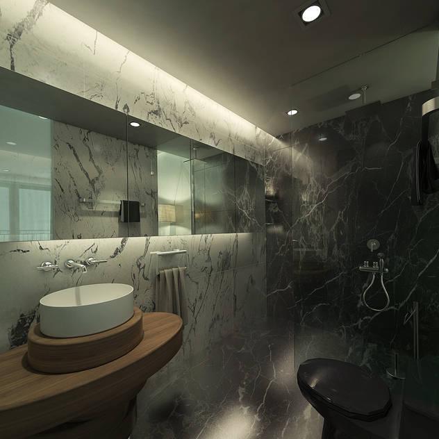 Căn hộ chung cư cao cấp TimesCity - T11 Phòng tắm phong cách hiện đại bởi deline architecture consultancy & construction Hiện đại