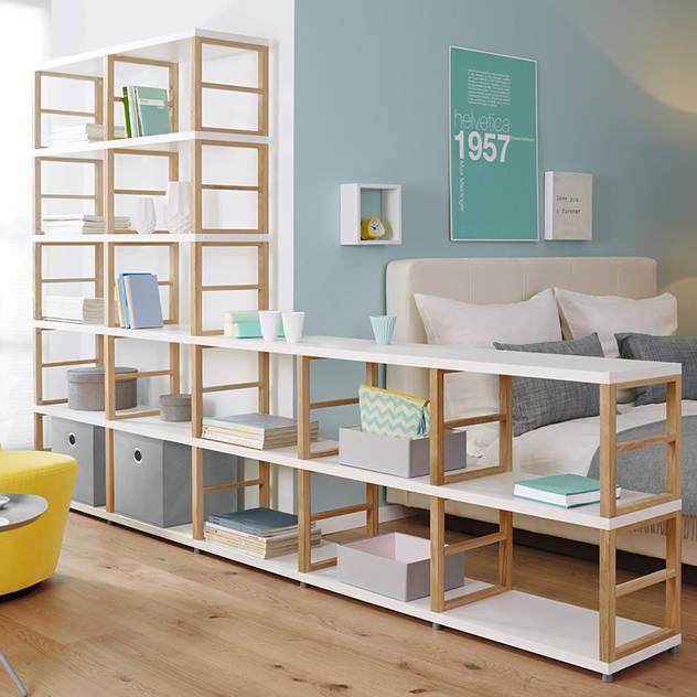 MAXX—Open Shelving Units Regalraum UK Scandinavian style bedroom