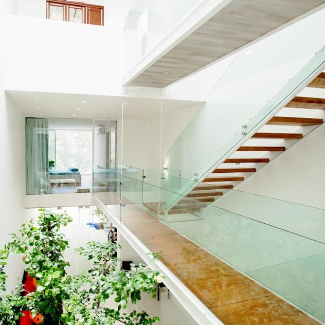 Nhà Phố - Đà Nẵng Hành lang, sảnh & cầu thang phong cách hiện đại bởi Công ty trách nhiệm hữu hạn ANP Hiện đại
