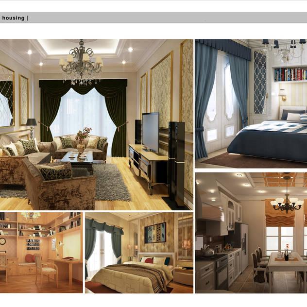 Housing Phuthai Haiduong-neoclassic style Phòng khách phong cách Bắc Âu bởi Công ty cổ phần X.Y.Z Bắc Âu