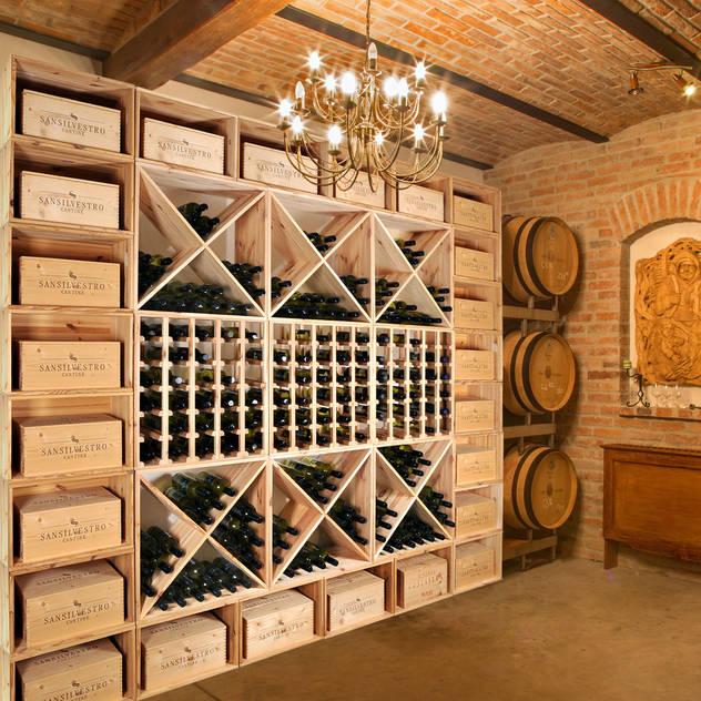 Hầm rượu phong cách kinh điển bởi Weinregal-Profi Kinh điển Gỗ Wood effect