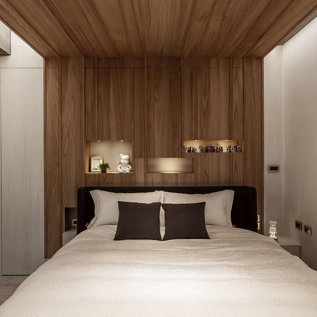 臥室 漢玥室內設計 Industrial style bedroom Wood Wood effect