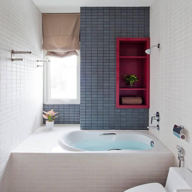 Ngắm Diện Mạo Ngôi Nhà Phố 32m2 Tuyệt Đẹp Trong Hẻm Nhỏ Sài Gòn Phòng tắm phong cách hiện đại bởi Công ty TNHH Xây Dựng TM – DV Song Phát Hiện đại