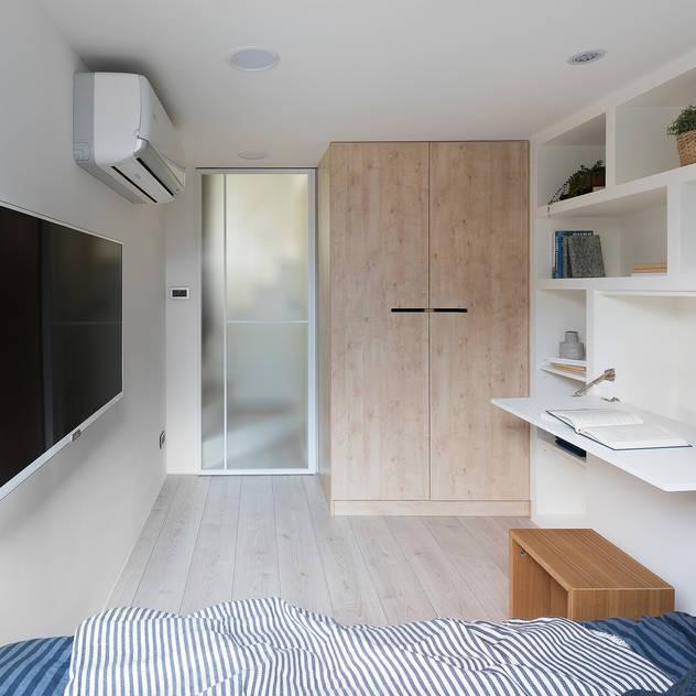 早安,日和!:  臥室 by 寓子設計