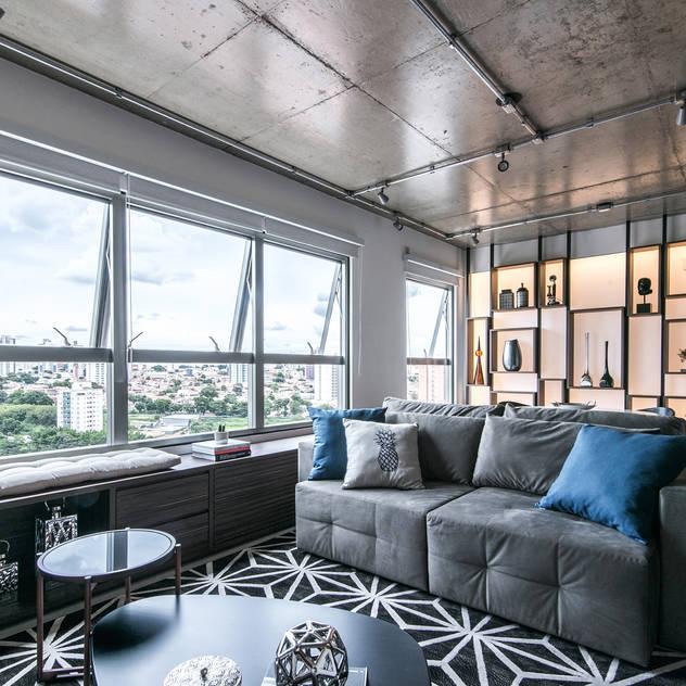 Sala Salas de estar industriais por Débora Vassão Arquitetura e Interiores Industrial