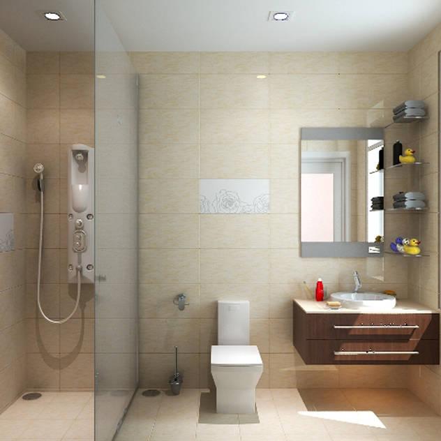Các không gian mang tính kết nối giữa màu sắc và chi tiết trang trí. Phòng tắm phong cách châu Á bởi Công ty TNHH TK XD Song Phát Châu Á Đồng / Đồng / Đồng thau
