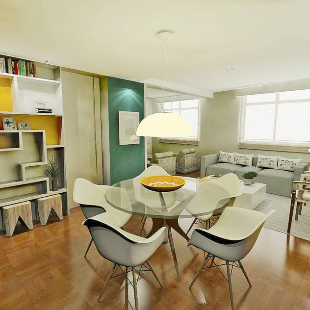 Sala de jantar Salas de jantar modernas por Fabrício Cardoso Arquitetura Moderno Madeira Efeito de madeira