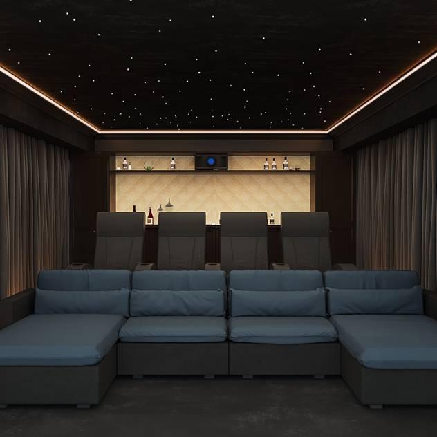 Home Cinema Room in Knutsford, Cheshire bởi Custom Controls Hiện đại