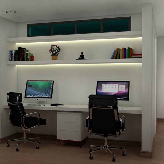 Residencia Minimalista: Espaços de trabalho por Fabio Mimaki Arquitetura