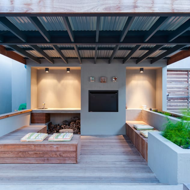 Patio JBA Architects Patios Solid Wood Wood effect