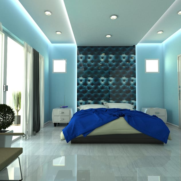 Blue Room : mediterranean Bedroom by Constantin Design & Build