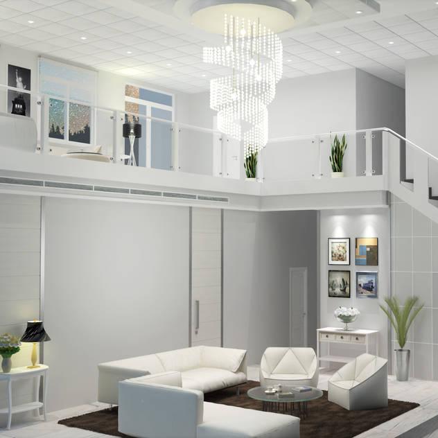 Chateau de Boudreault Living Room : mediterranean Living room by Constantin Design & Build