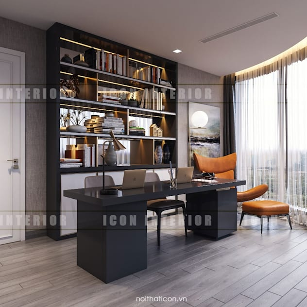 Vinhomes Golden River - Aqua 3 Phòng học/văn phòng phong cách hiện đại bởi ICON INTERIOR Hiện đại
