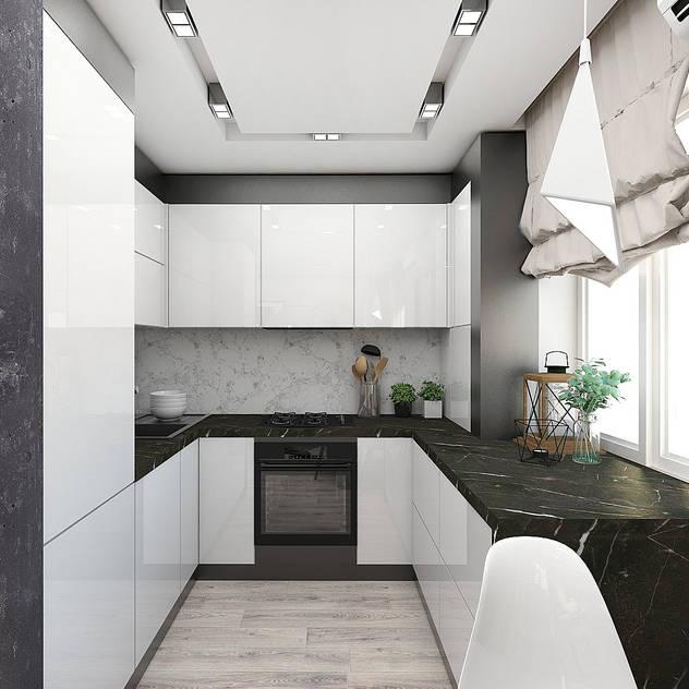 Cucina in stile industriale di ELENA_KULIK_DESIGN Industrial