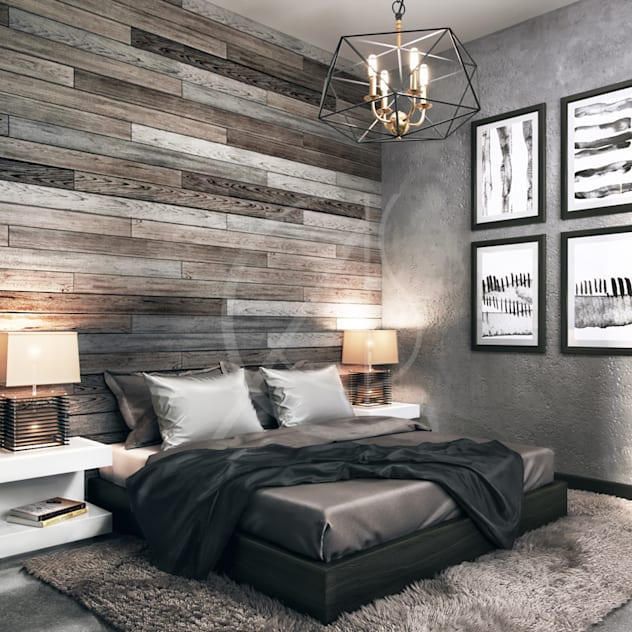 Industrial House Design: industrial Bedroom by Comelite Architecture, Structure and Interior Design