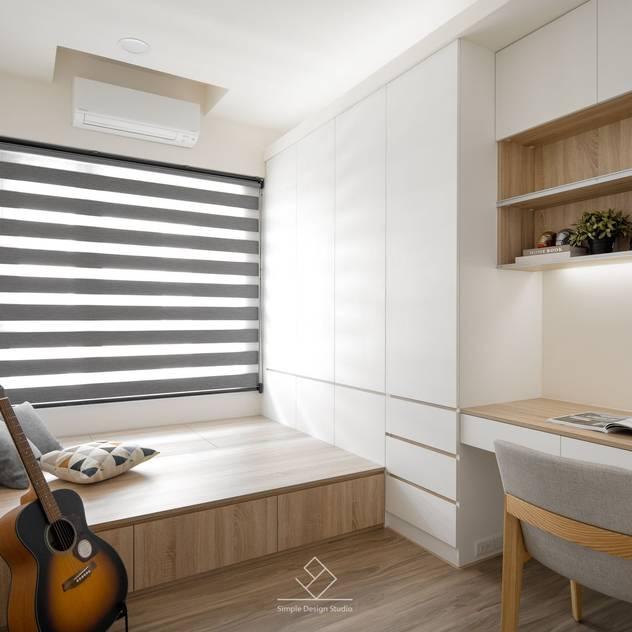 Phòng học/văn phòng phong cách Bắc Âu bởi 極簡室內設計 Simple Design Studio Bắc Âu MDF