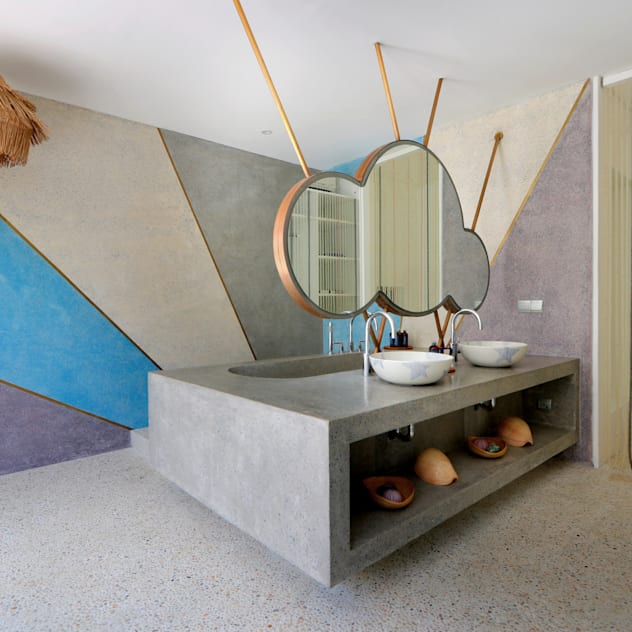 Seascape Villa Bathroom Word of Mouth House Tropical style bathroom