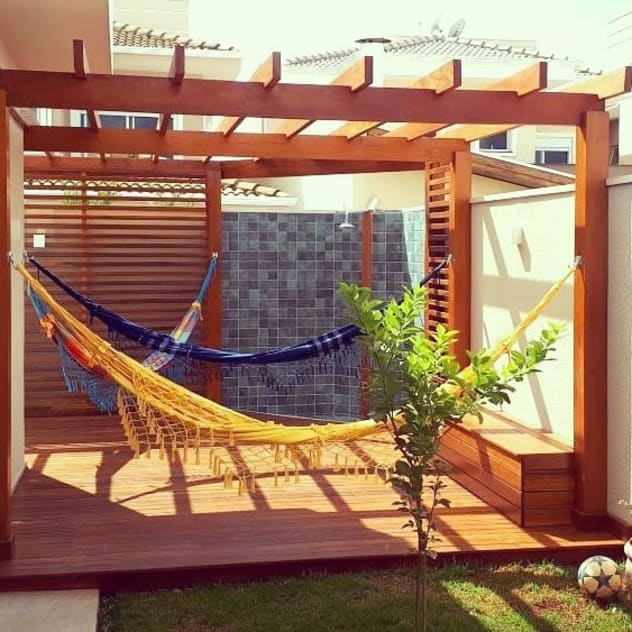 Vườn phong cách đồng quê bởi Vanessa Vosgrau Arquitetura Đồng quê Gỗ Wood effect