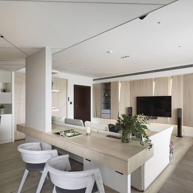 Phòng học/văn phòng phong cách hiện đại bởi 禾光室內裝修設計 ─ Her Guang Design Hiện đại