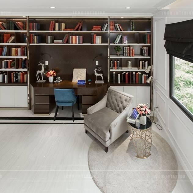 Thiết kế và thi công nội thất biệt thự Tân Cổ Điển sang trọng và đẳng cấp Phòng học/văn phòng phong cách kinh điển bởi ICON INTERIOR Kinh điển