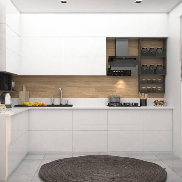 Cucina moderna di RIZVANOĞLU MİMARLİK MÜHENDİSLİK İNŞAAT A.Ş Moderno