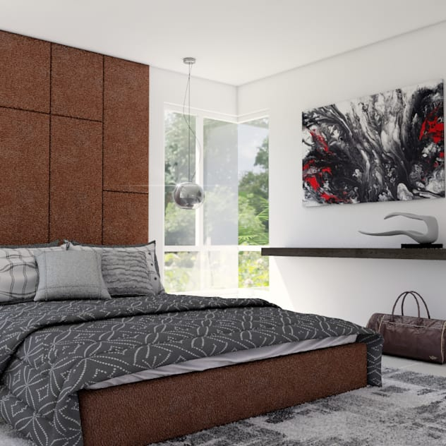 URBAO Arquitectos Modern style bedroom Wood White