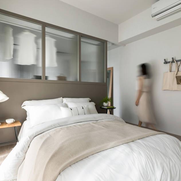 Phòng ngủ phong cách Bắc Âu bởi 寓子設計 Bắc Âu