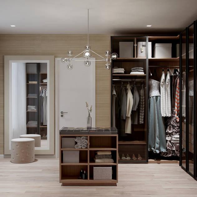 Walk in Wardrobe:  Dressing room by De Panache  - Interior Architects, Modern