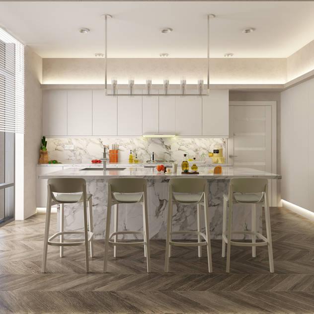 Cucina moderna di DESIGNSONO Moderno Marmo
