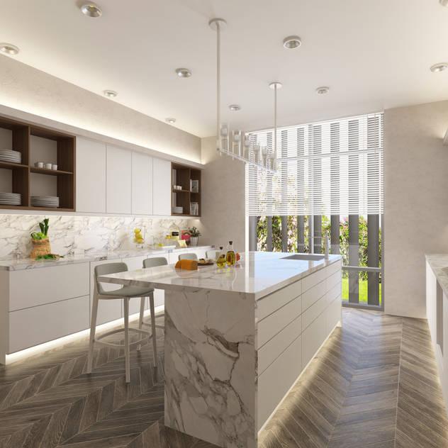 Cucina moderna di DESIGNSONO Moderno Legno Effetto legno