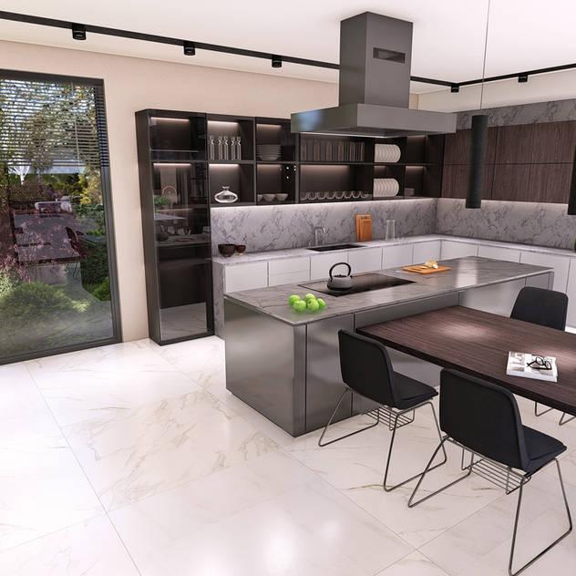 Cucina moderna di CM² Mimarlık ve Tasarım Stüdyosu Moderno