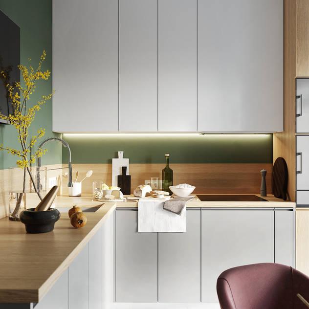 Thi Công Nội Thất Căn Hộ 1 Phòng Ngủ Nhà bếp phong cách mộc mạc bởi Deco Việt Mộc mạc